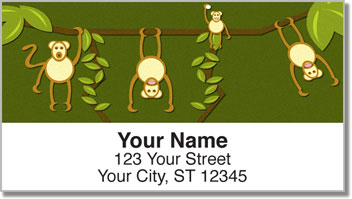 Cheeky Monkey Address Labels
