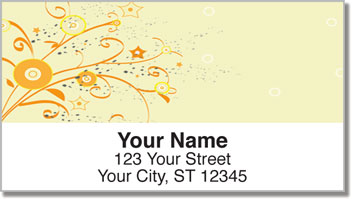 Floral Confetti Address Labels