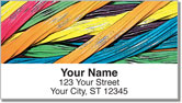 Licorice Rainbow Address Labels
