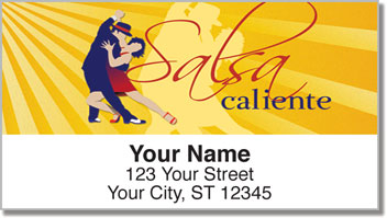 Salsa Dancing Address Labels