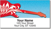 Scroll Guitar Address Labels