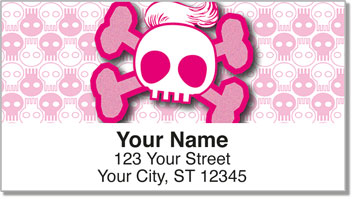 Stylish Skull Address Labels