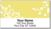 Flower Silhouette Address Labels