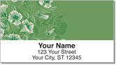 Flower-Filled Corner Address Labels