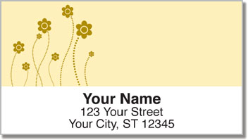 Easy-Going Flower Address Labels