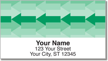 Monochrome Arrow Address Labels