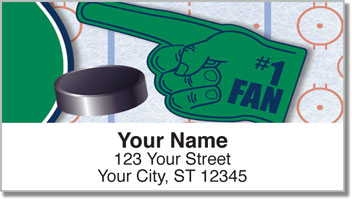 Green & Blue Hockey Address Labels