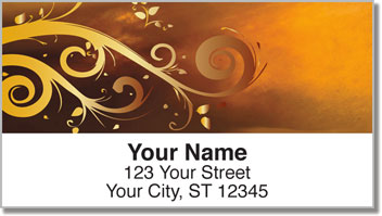 Grungy Scroll Address Labels