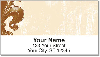 Iron Fleur de Lis Address Labels