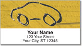 Car Sketch Address Labels