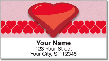 Heart Perspective Address Labels