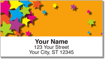 Colorful Cascade Address Labels