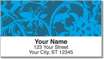 Iron Floral Address Labels
