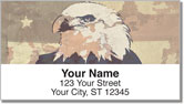 Patriotic Eagle Address Labels