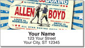 Vintage Boxing Address Labels