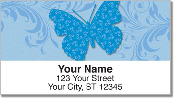 Butterfly Print Address Labels