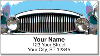 Classic Car Address Labels