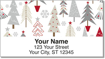 Christmas Tree Address Labels