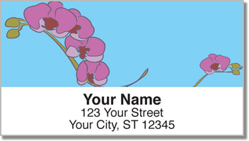 Orchid Print Address Labels