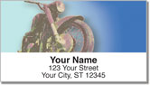 Old School Motorcycle Address Labels