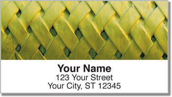 Basket Weave Address Labels