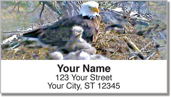 Nesting Eagle Address Labels