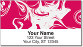 White Swirl Address Labels