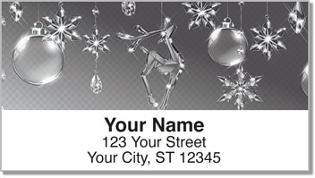 Christmas Snowflake Address Labels