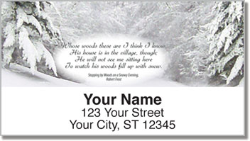 Snowy Evening Address Labels
