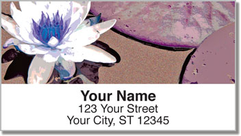 Wild Water Lily Address Labels