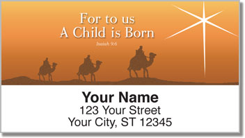 Nativity Scene Address Labels