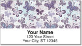 Butterfly Scroll Address Labels