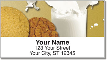 Milk & Cookie Address Labels