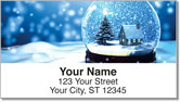 Snow Globe Address Labels