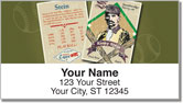 Vintage Baseball Card Address Labels