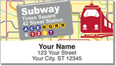 New York Subway Address Labels