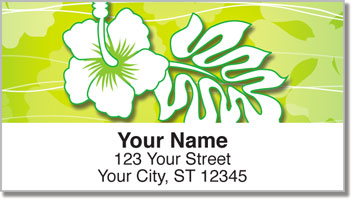 Hawaiian Hibiscus Address Labels