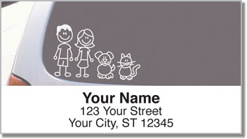 Stick Family Address Labels