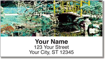 Japanese Garden Address Labels