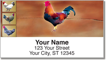 Rooster Address Labels