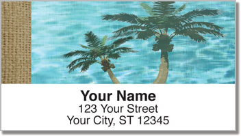 Peaceful Palm Tree Address Labels