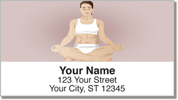 Yoga Pose Address Labels