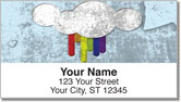 Vintage Rainbow Address Labels