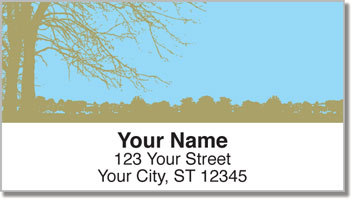 Tree Silhouette Address Labels