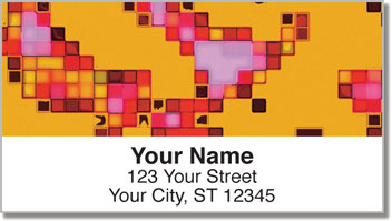 Mosaic Tile Address Labels