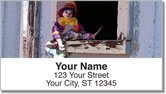 Whiteface Clown Address Labels