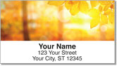 Fall Leaves Address Labels