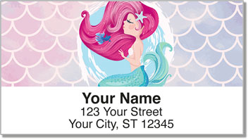 Lovely Mermaid Address Labels