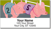Pig Racing Address Labels