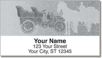 Antique Automobile Address Labels